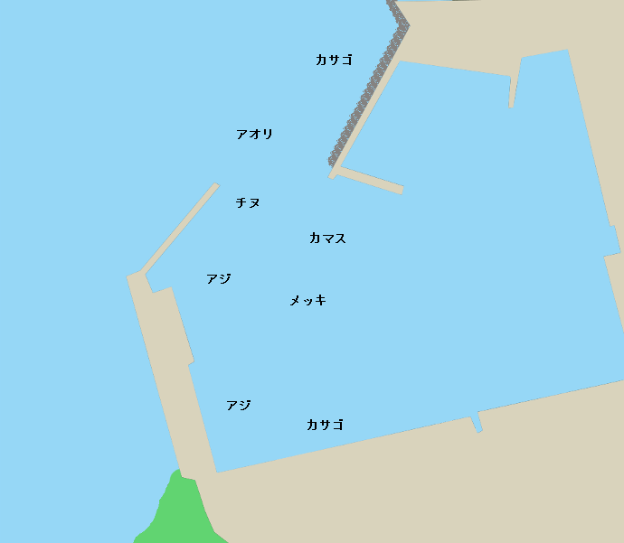田ノ浦漁港ポイント図