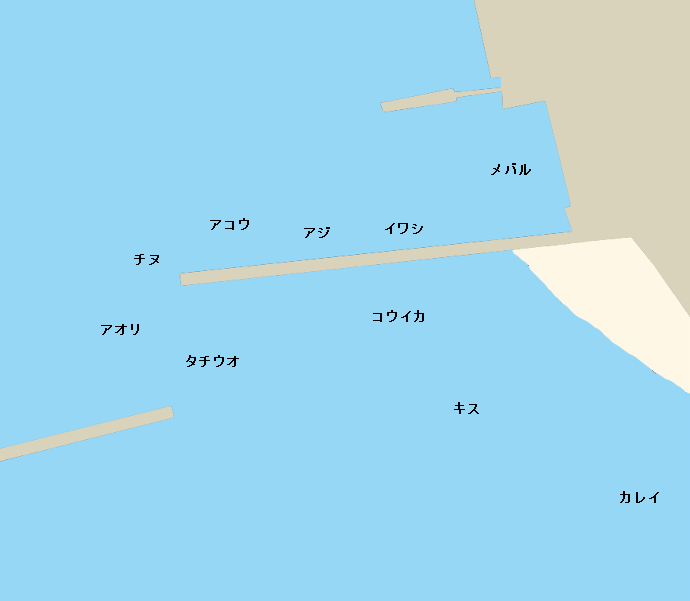 田島大波止ポイント図