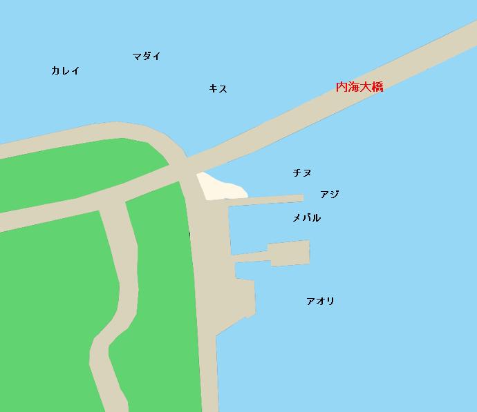 田島内海大橋付近のポイント