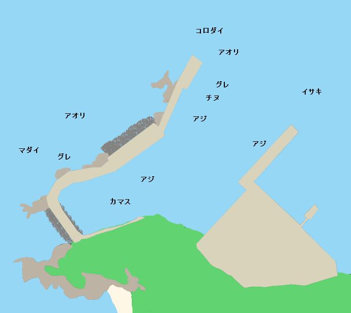 竜ヶ迫漁港ポイント図