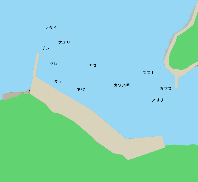 泊浦漁港ポイント図