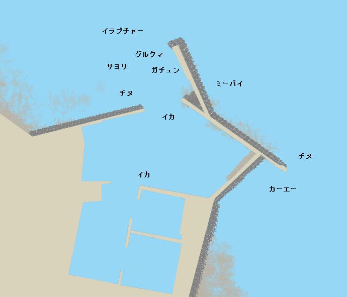 当添漁港ポイント図