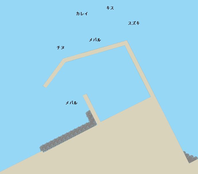 倉橋島坪井の波止ポイント図