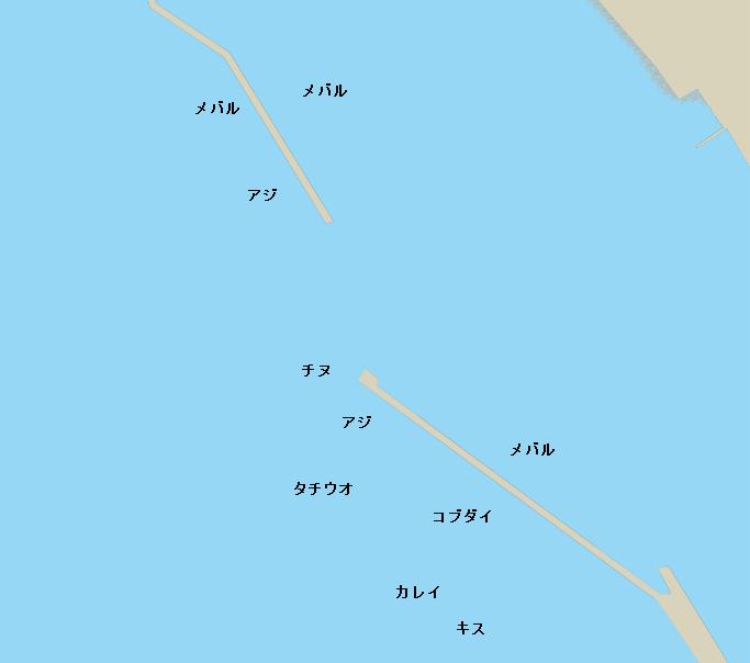 倉橋島釣士田港ポイント図