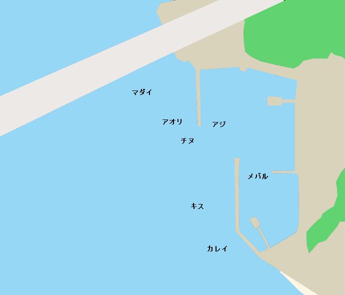馬島漁港ポイント図