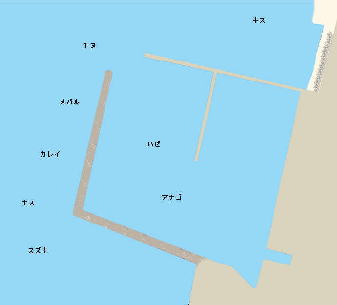 浦生漁港ポイント図
