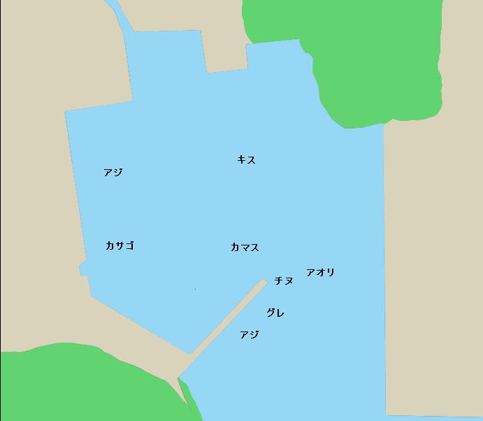 宇須々木漁港ポイント図