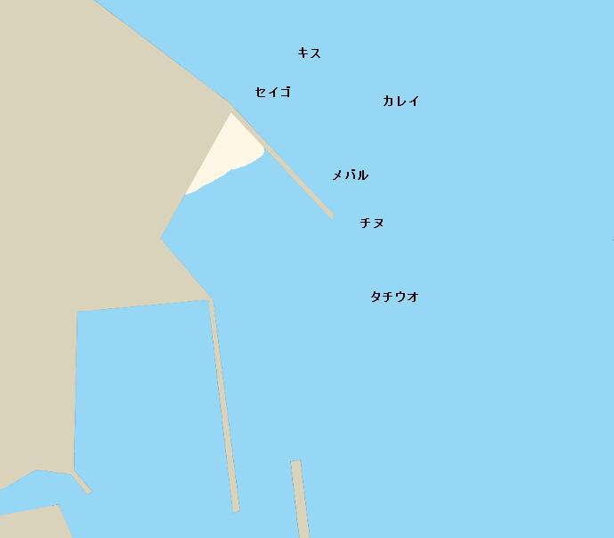 向島歌漁港ポイント図