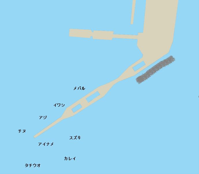 安浦港ポイント図