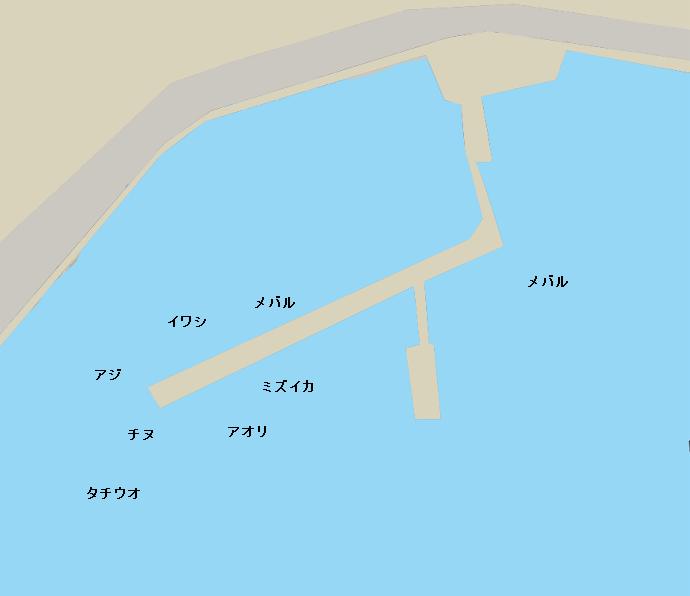 横浜港(広島)ポイント図