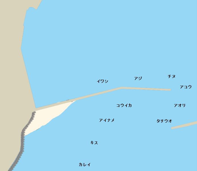 横島大波止ポイント図