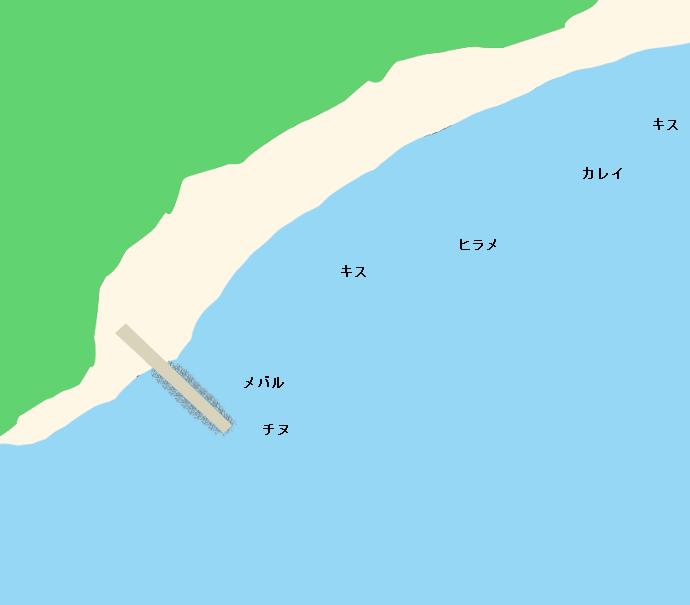 横島横山海岸ポイント図