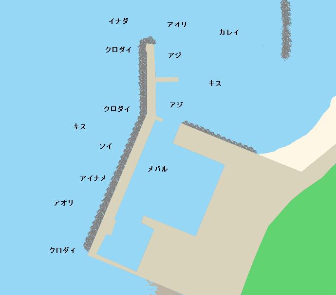 米子漁港ポイント図