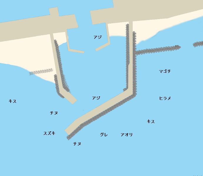 吉川漁港ポイント図