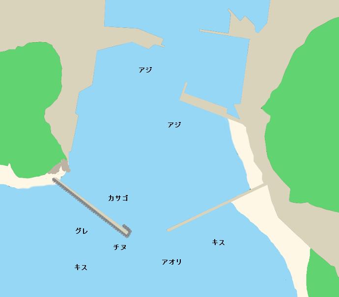 由岐漁港ポイント図