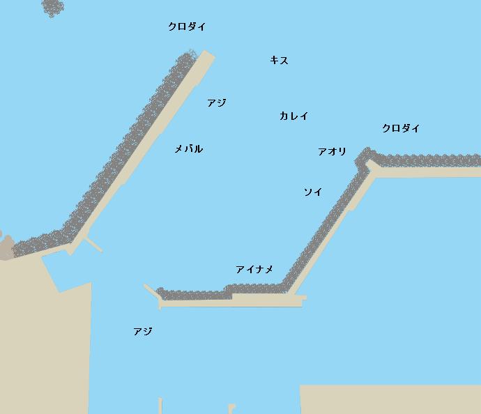 由良漁港ポイント図