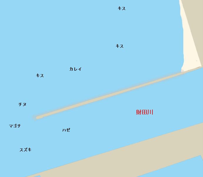 財田川河口ポイント図