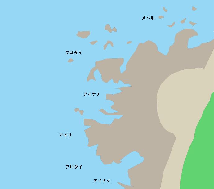 地蔵下ポイント図