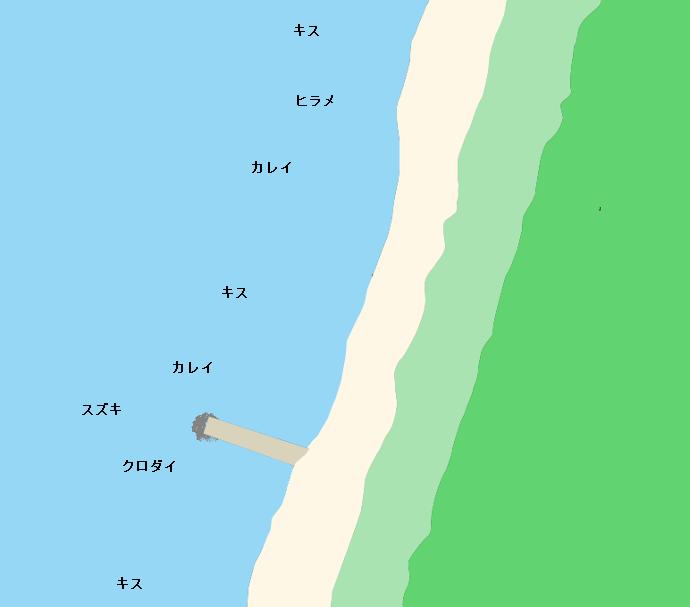 十里塚海岸ポイント図