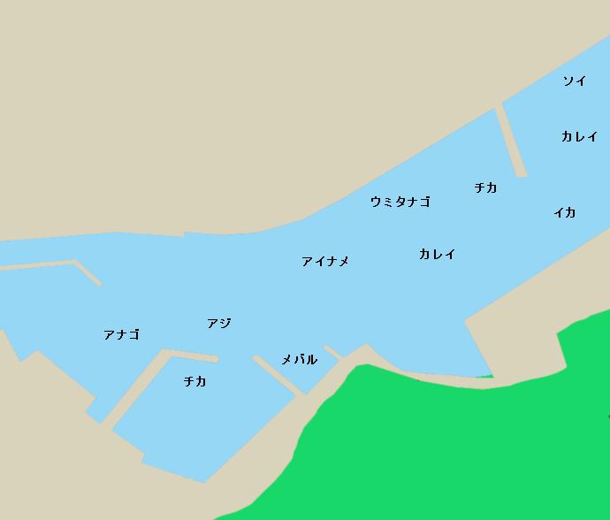 平田漁港ポイント図