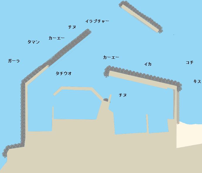 辺土名漁港ポイント図