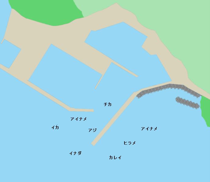 根白漁港ポイント図