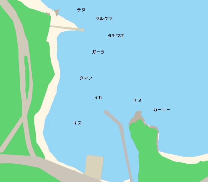 許田漁港ポイント図
