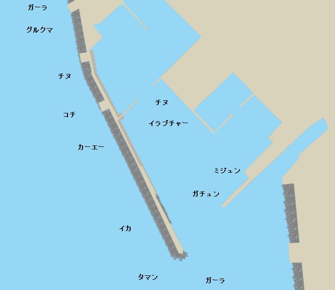 名護漁港ポイント図