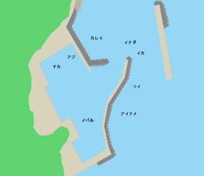 野々前漁港ポイント図