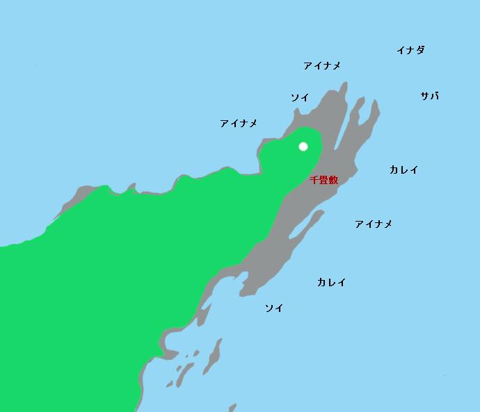 御箱崎ポイント図(灯台、千畳敷付近)