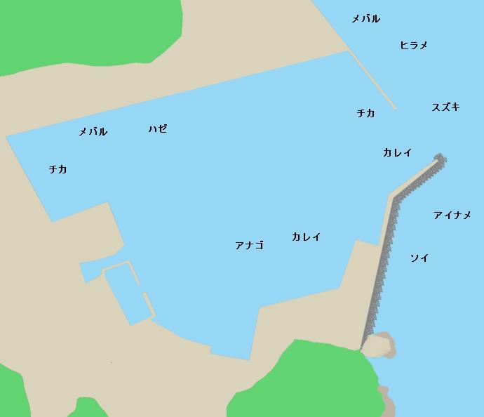 長部漁港ポイント図