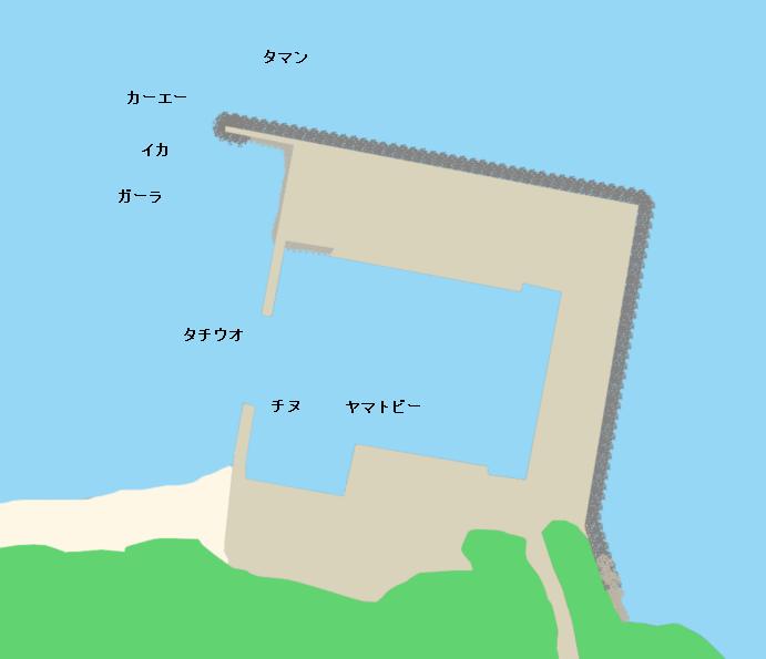 新里漁港ポイント図