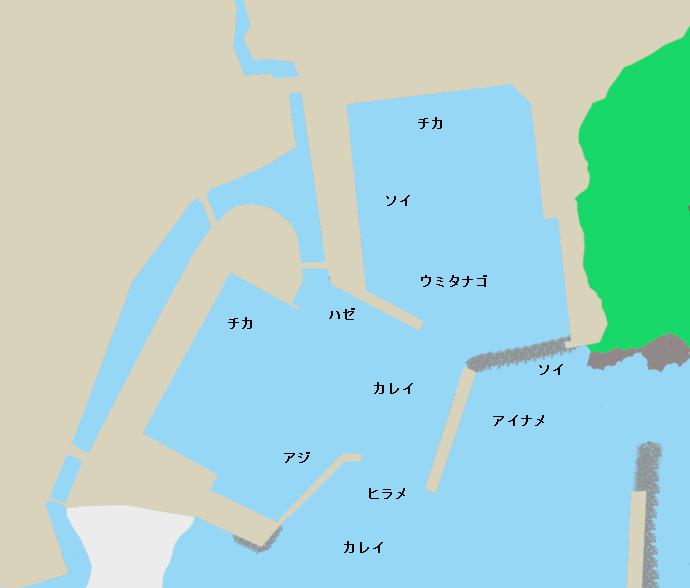 田老漁港ポイント図