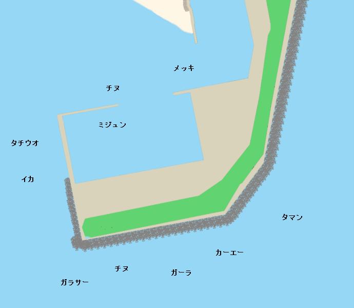 汀間漁港ポイント図