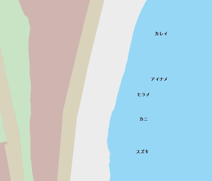 十府ケ浦ポイント図