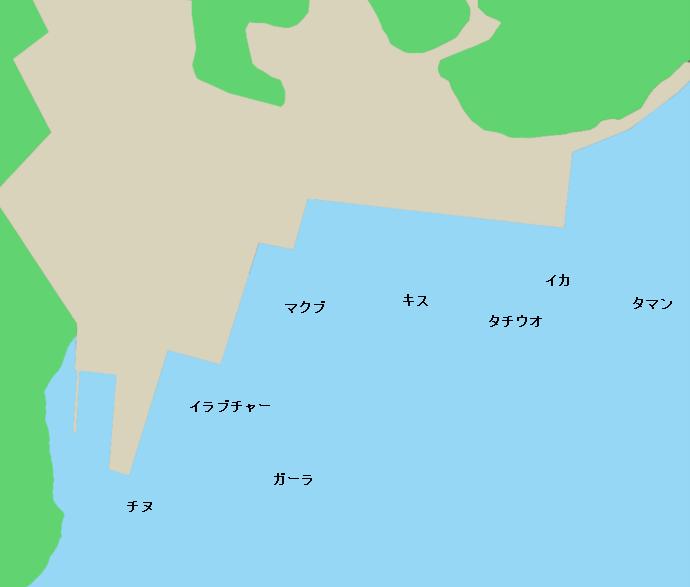 運天港ポイント図