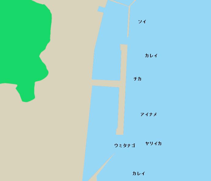 山田漁港ポイント図