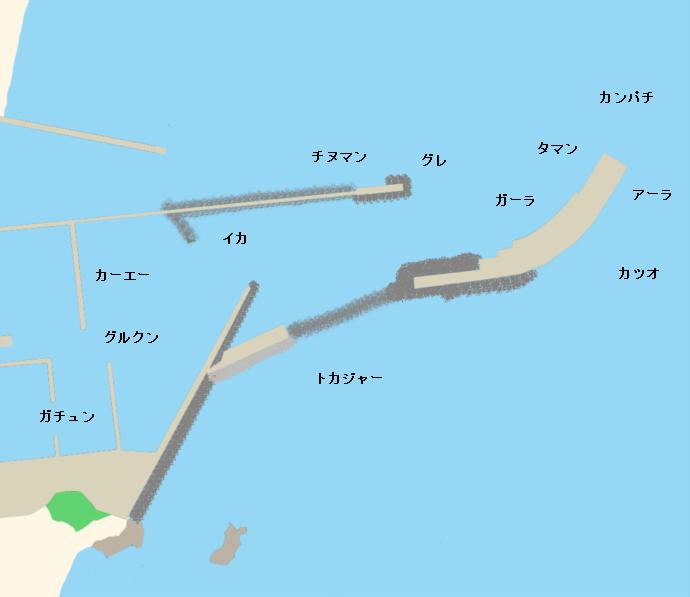 安田漁港ポイント図