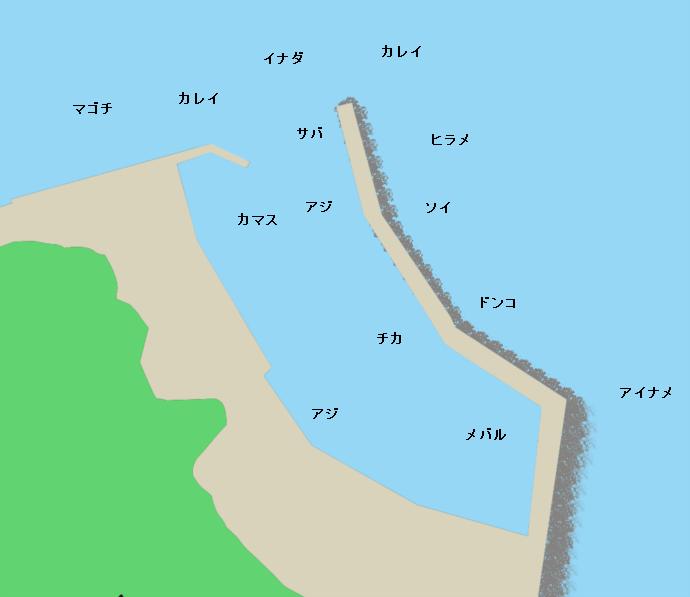 吉浜漁港ポイント図