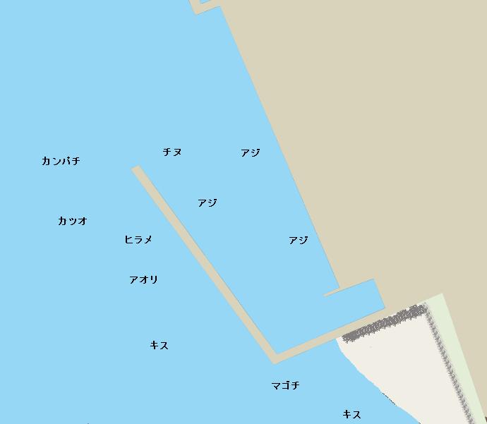 赤水漁港ポイント図