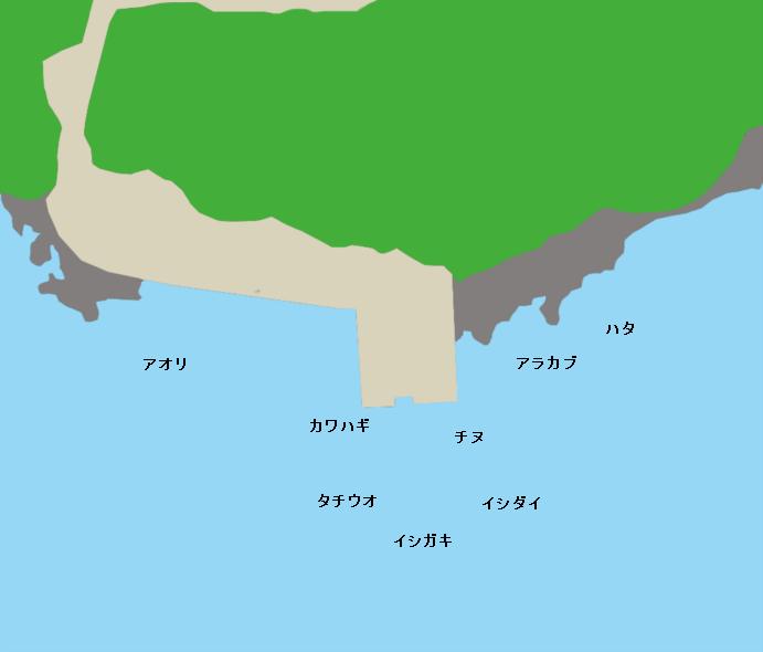有村港(7番)ポイント図