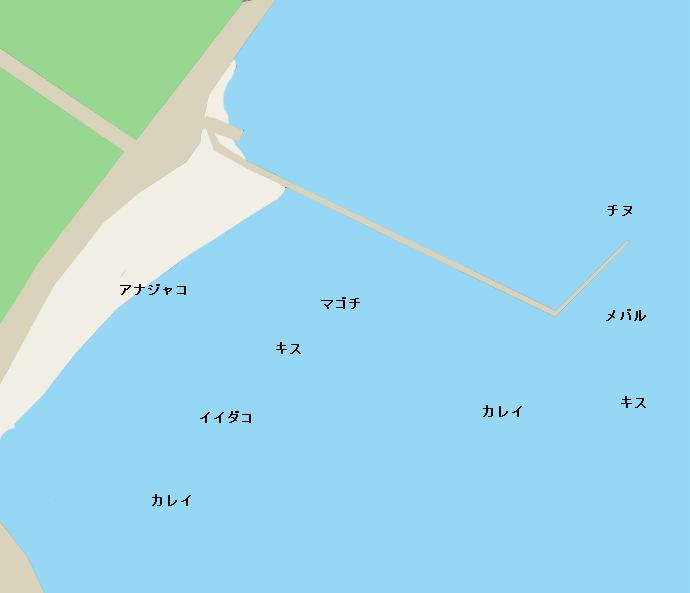 青佐鼻海岸ポイント図