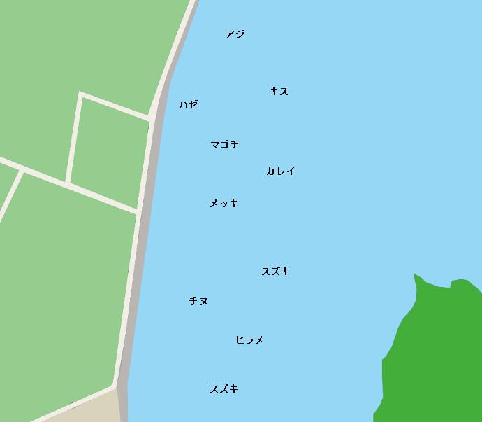 番匠川河口ポイント図