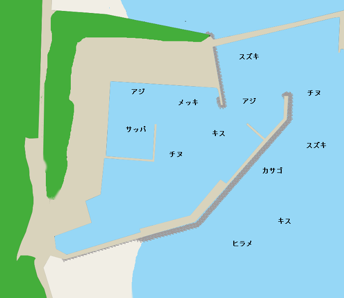 波見港ポイント図