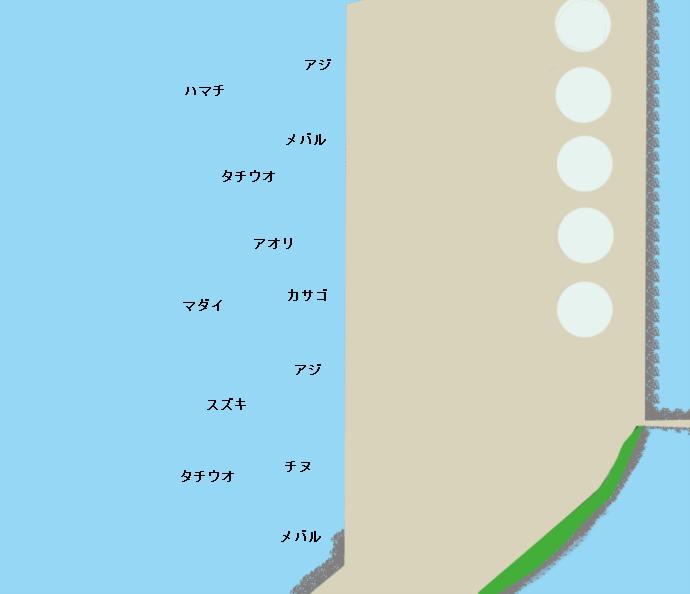 日吉原公共埠頭ポイント図