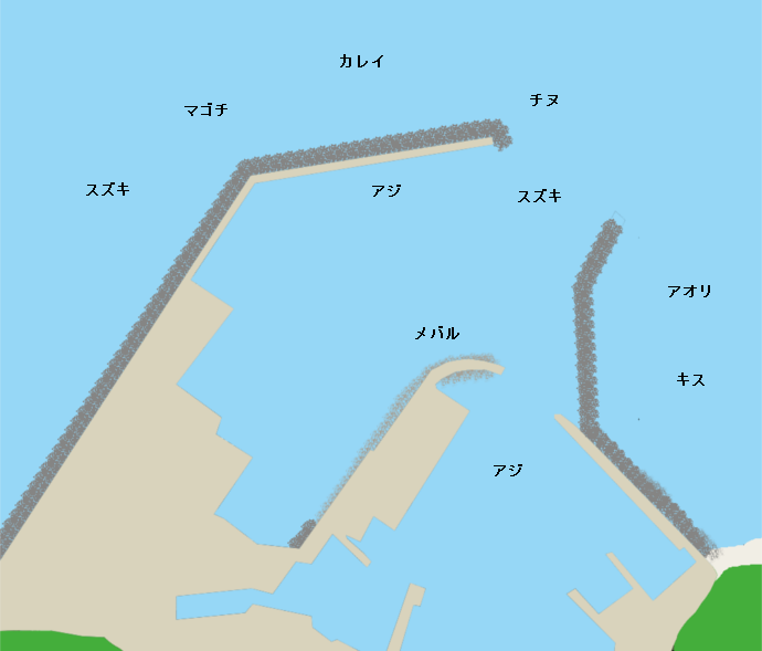 伊美港ポイント図