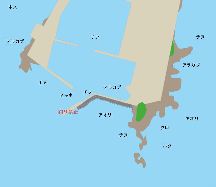 庵川漁港ポイント図