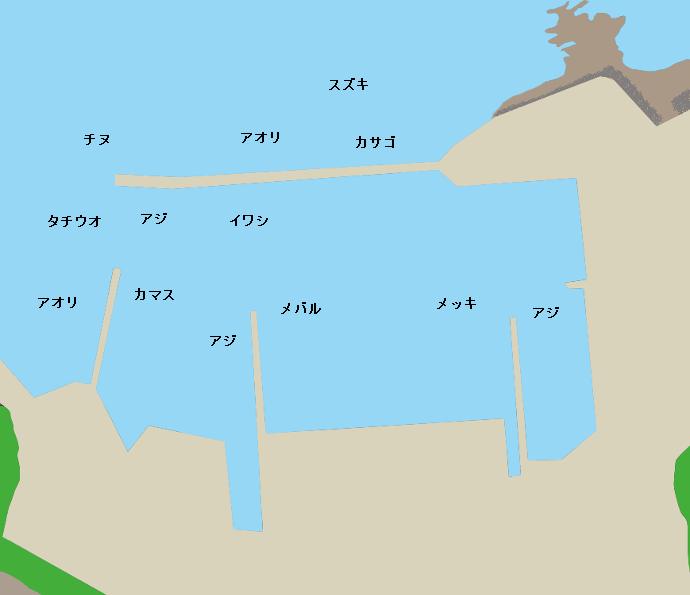 板知屋港ポイント図