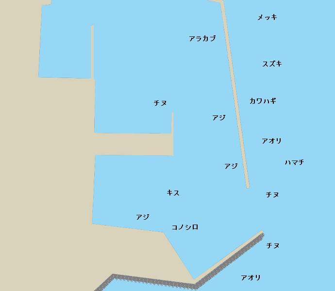 門川港ポイント図