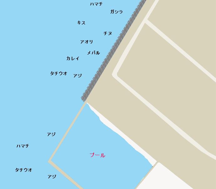 貝塚人工島ポイント図